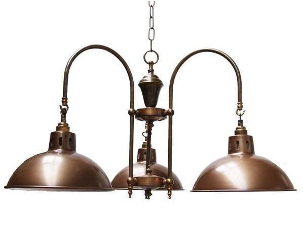 Handmade brass chandelier BRASILIA FACTORY INDUSTRIAL STYLE LIGHT by Mullan Lighting