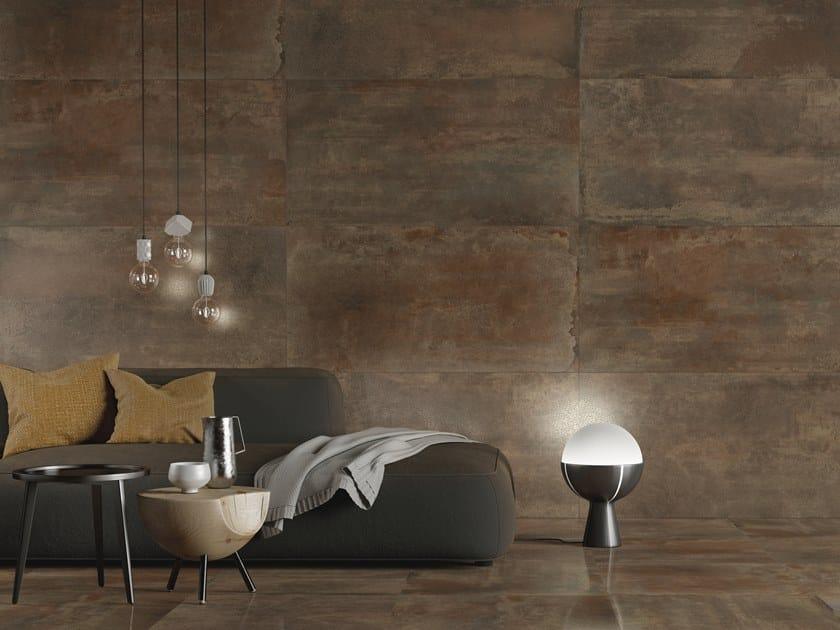 Indoor/outdoor wall/floor tiles with metal effect BRASS By PERONDA
