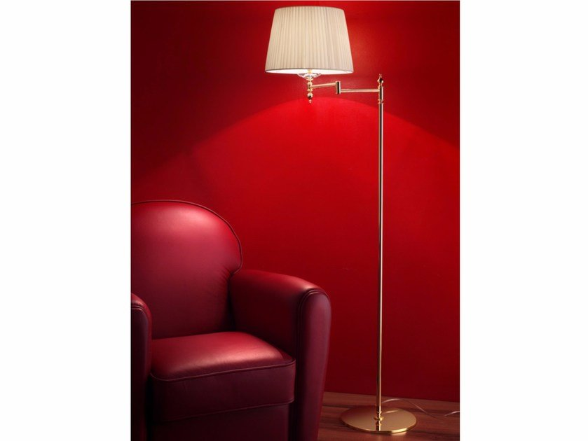 Direct light incandescent brass floor lamp with swing arm BRASS & SPOTS VE 1090 | Floor lamp by Masiero