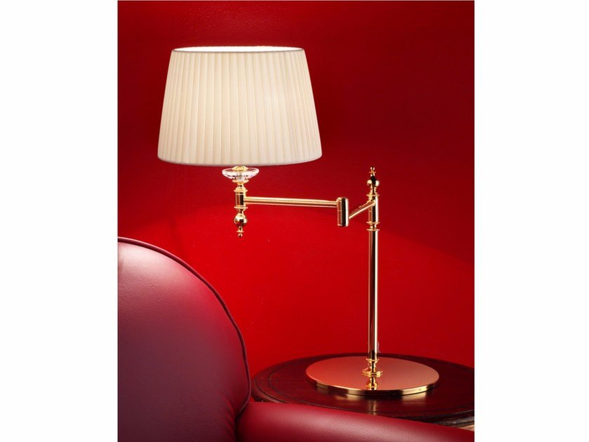 Direct light incandescent adjustable brass table lamp BRASS & SPOTS VE 1090 | Table lamp by Masiero