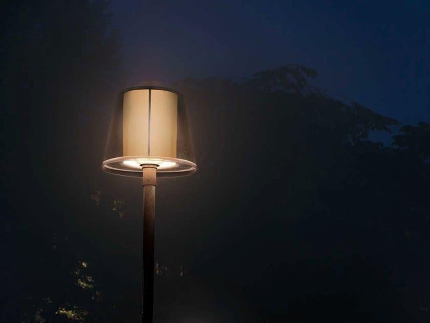 Farola LED para poste de metal BRASS | Farola by Zero