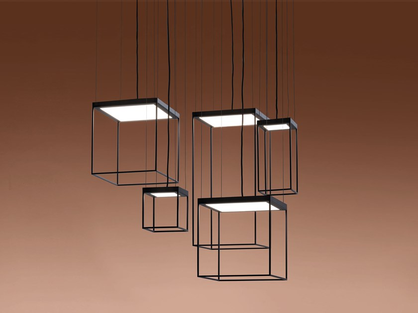 LED metal pendant lamp BRASSIE by Ronda Design