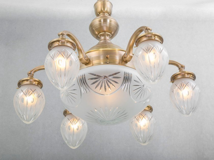 Handmade brass chandelier BRATISLAVA | Pendant lamp by Patinas Lighting