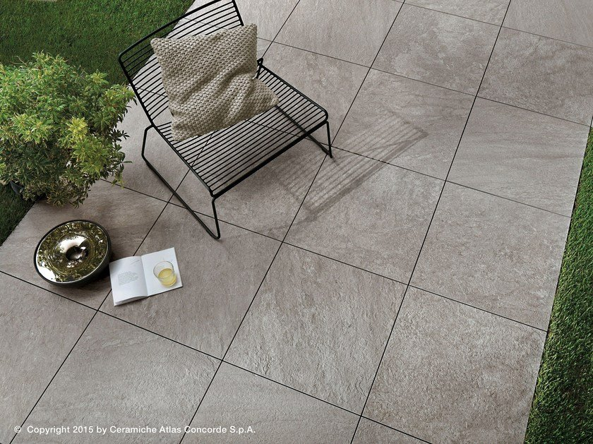 Porcelain Stoneware Outdoor Floor Tiles With Stone Effect Brave
