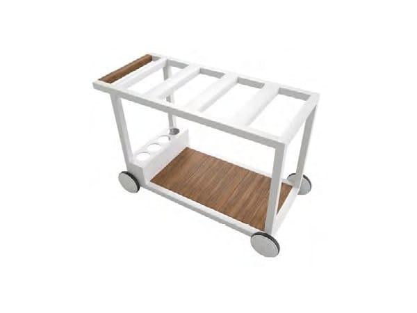 Carrello portavivande da giardino in alluminio e legno brazilia carrello portavivande da - Carrello portavivande da giardino ...