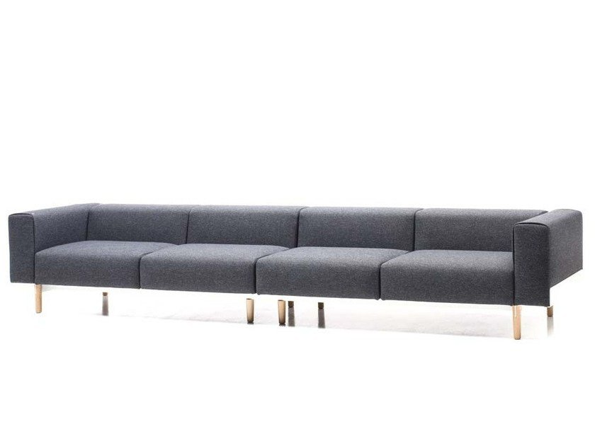 Sectional 4 seater fabric sofa BREAD | 4 seater sofa by Diemme