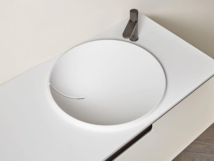 Lavabo in Flumood® con piano BRECCIA by Antonio Lupi Design