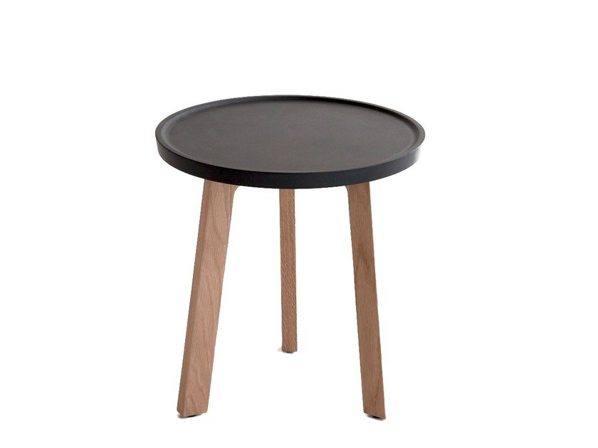 Low Oak Coffee Table BREDA | Round Coffee Table By Punt