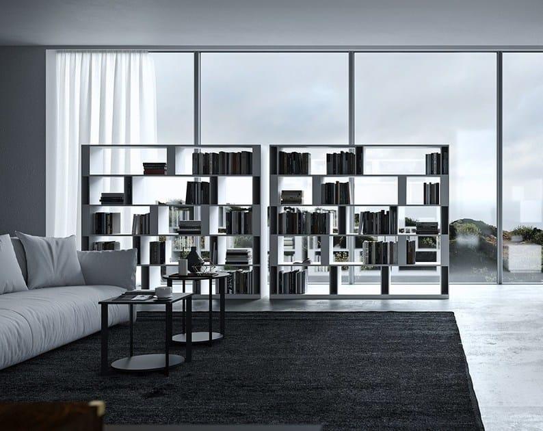 Open double-sided wooden bookcase BRERA by EmmeBi