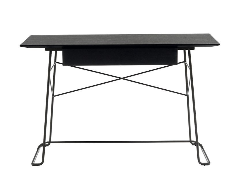 Rectangular MDF writing desk with drawers BRERA   Writing desk by COEDITION