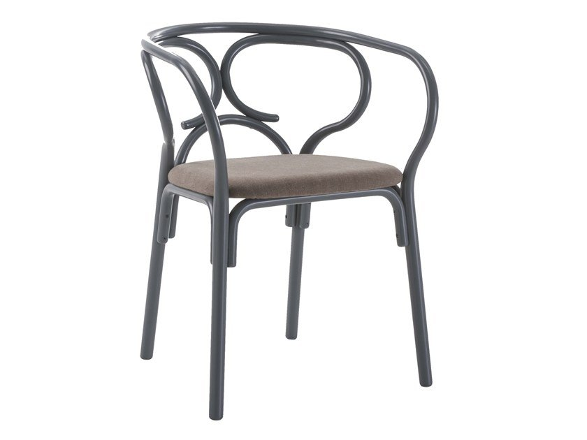 Wooden armchair BREZEL by Wiener GTV Design