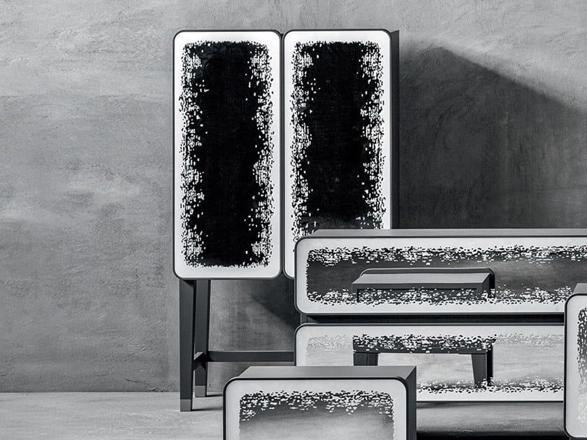Walnut highboard with doors BRICK 85 | Walnut highboard by Gervasoni