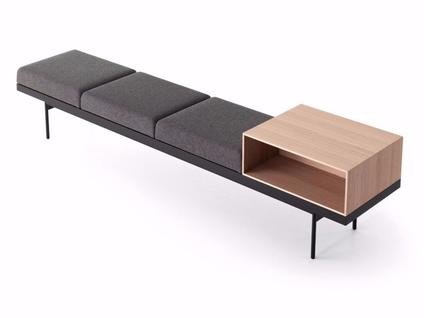 Fabric bench BRICK by Caccaro