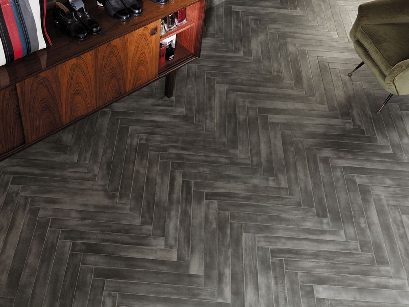 Porcelain stoneware flooring with resin effect BRICKELL MATT by FAP ceramiche