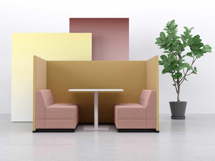 Sofa aus Stoff mit hoher Rückenlehne BRICKS MEETING SOFA by Casala