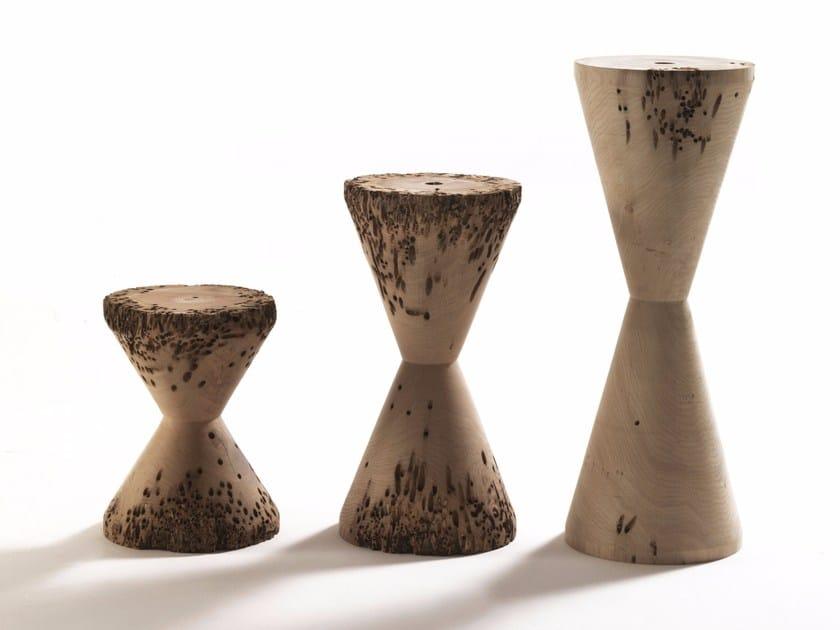 Briccola wood stool BRICOLAGES by Riva 1920