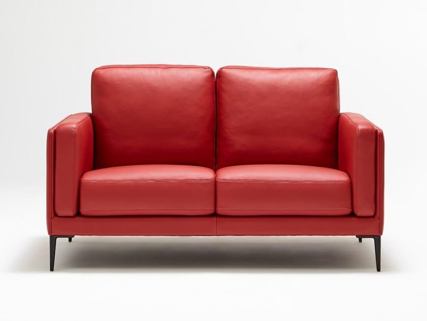 Leather small sofa BRIDGE AUTEUIL by Burov