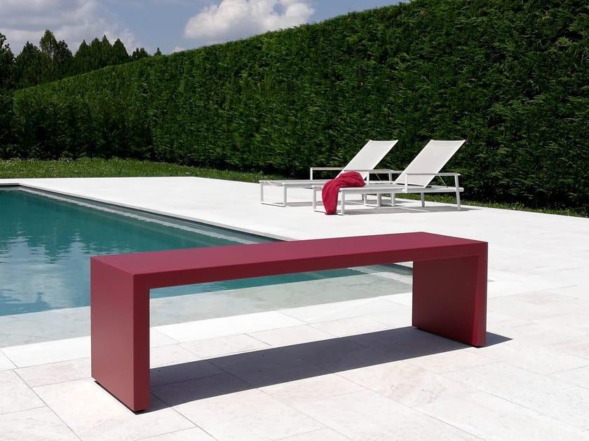 Stainless steel garden bench BRIDGE by BLOSS