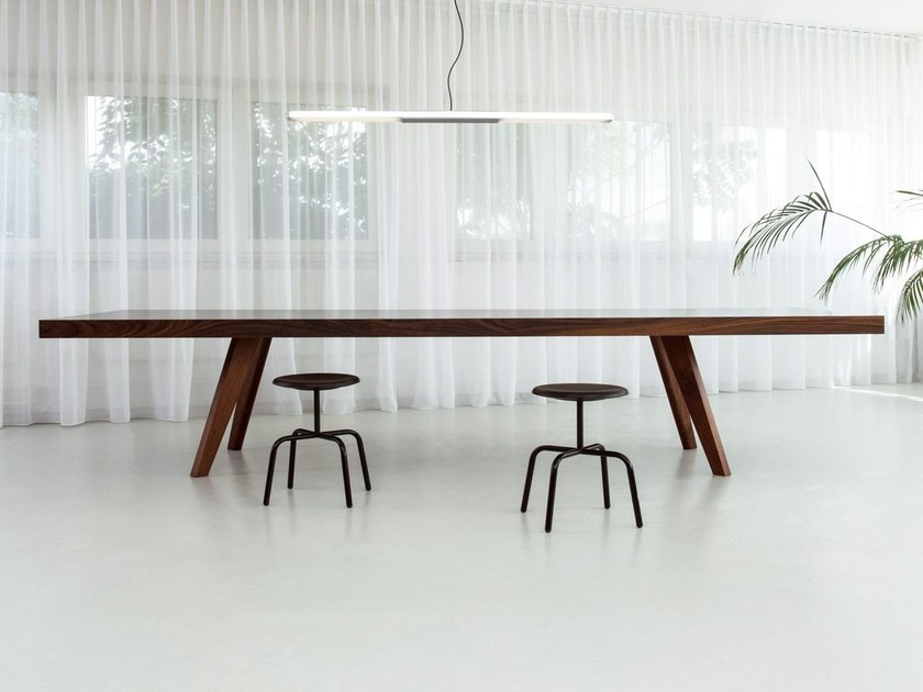 Rectangular wooden meeting table BRIDGE CONFERENCE by Morgen