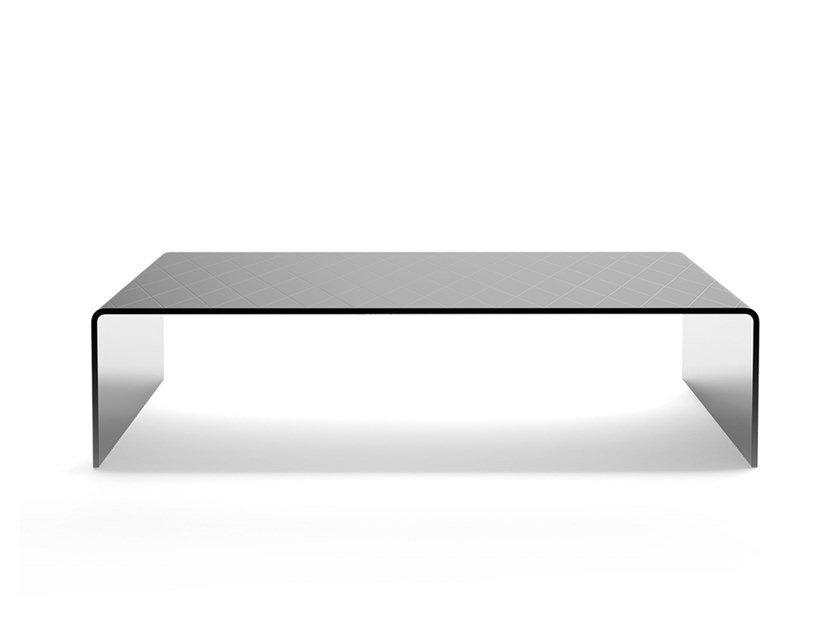 Rectangular glass coffee table BRIDGE by EXENZA