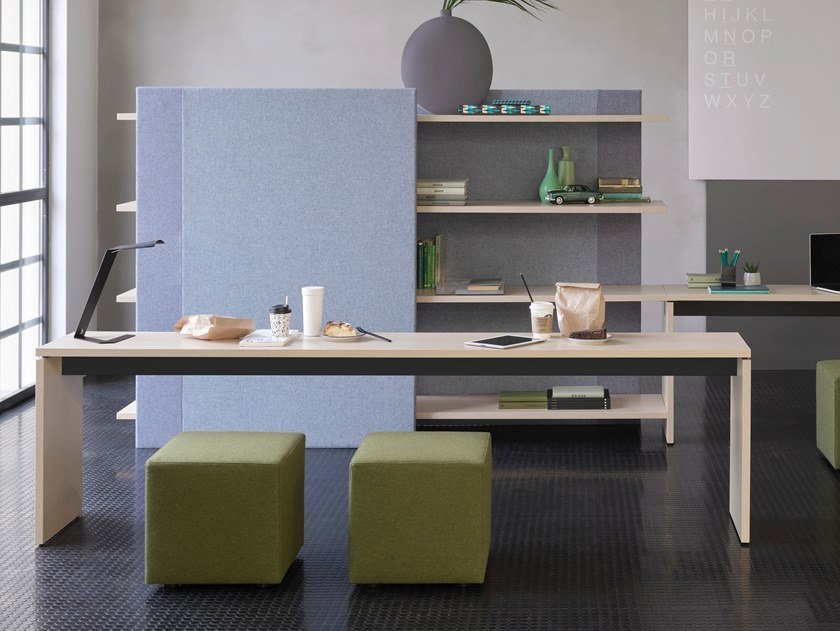 Meeting table with cable management BRIDGE | Table by Citterio