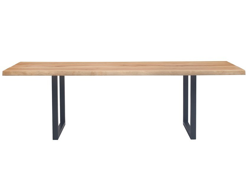 Rectangular steel and wood table BRIDGE by Italcollections