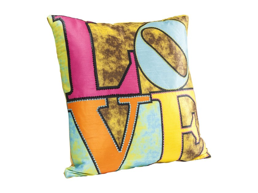 Square polyester cushion BRIGHT LOVE by KARE-DESIGN