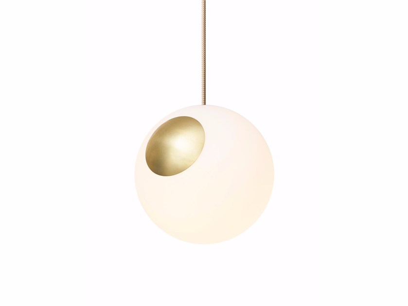 Indirect light blown glass pendant lamp BRIGHT SPOT by Nordic Tales