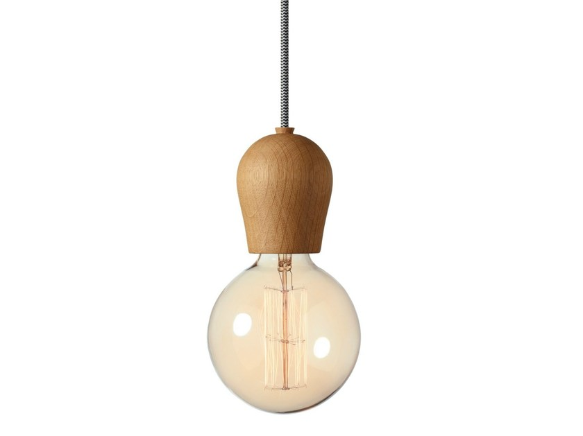 Direct light oak pendant lamp BRIGHT SPROUT by Nordic Tales