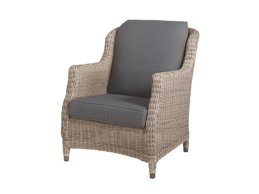 Lounge Armchair BRIGHTON | Garden armchair with armrests by Bridgman