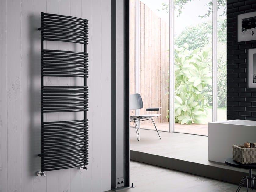 Hot-water carbon steel towel warmer BRIGITTE by CORDIVARI