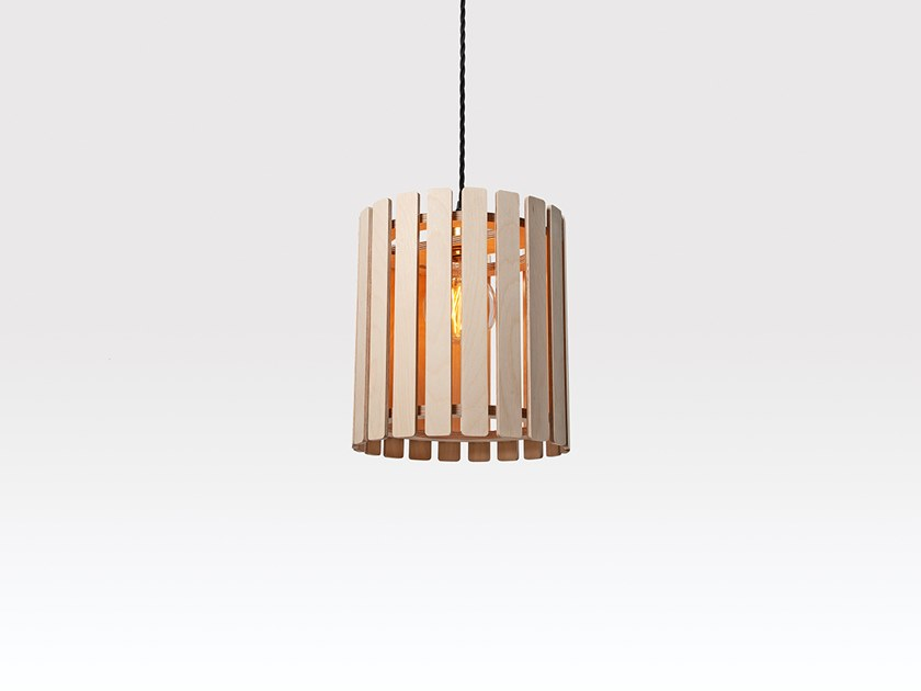 Plywood pendant lamp BRIHAM SMALL DRUM by Liqui Contracts