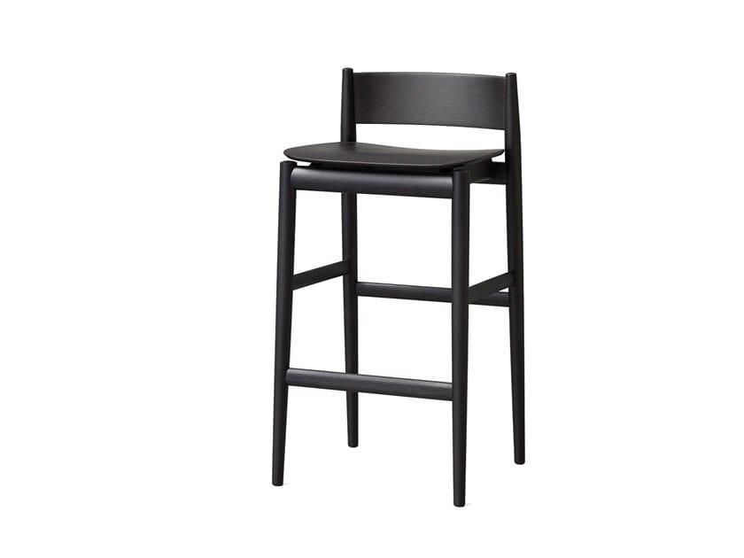 High ash stool with footrest BRINA by Porro