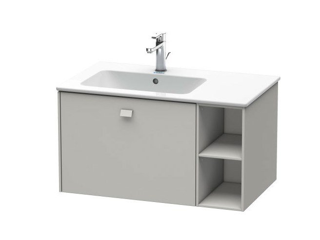 Wall-mounted vanity unit with drawers with towel rail BRIOSO | Vanity unit with towel rail by Duravit