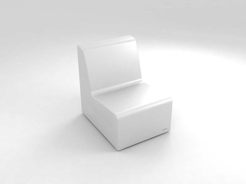 Modular polyethylene garden armchair with light BRISA | Modular garden armchair by Lamalva