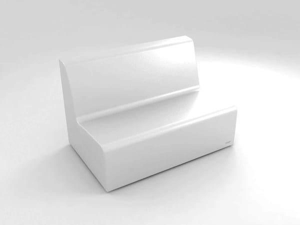 Polyethylene sofa / restaurant booth BRISA | Modular sofa by Lamalva