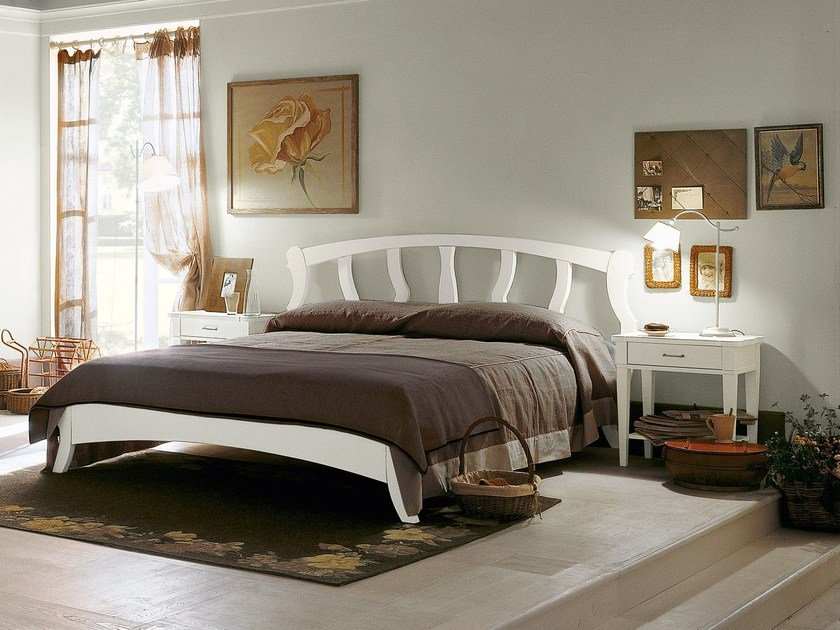 Wooden double bed BRISTOL | Double bed by Minacciolo