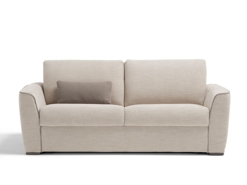 Fabric sofa bed with removable cover BRIX by Dienne Salotti