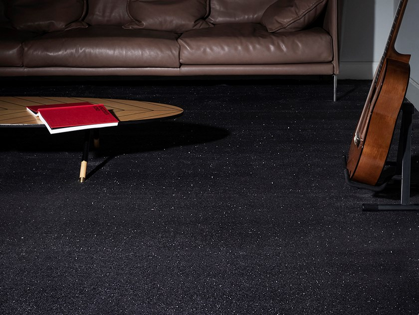 Solid-color polyamide carpeting BROADWAY by Besana Moquette