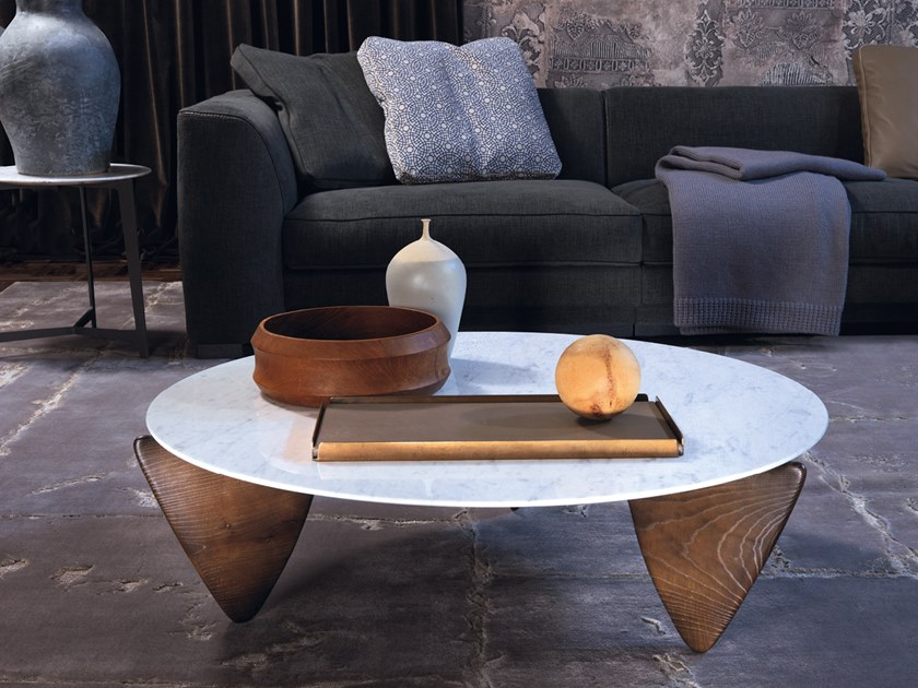 Carrara marble coffee table BROCK by Borzalino