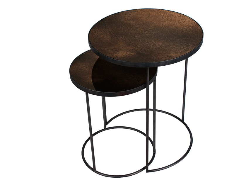 Round side table BRONZE NESTING SIDE TABLE SET by Notre Monde