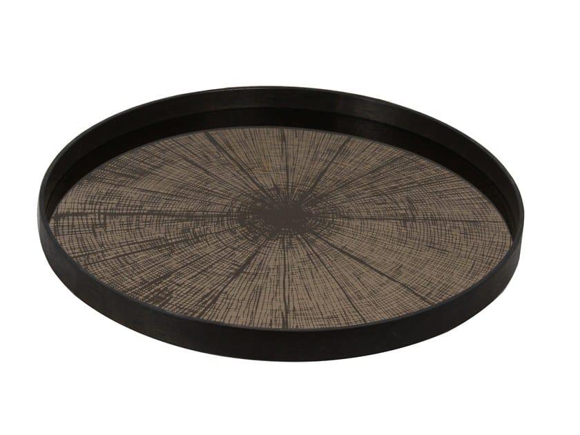 Round tray BRONZE SLICE by Notre Monde