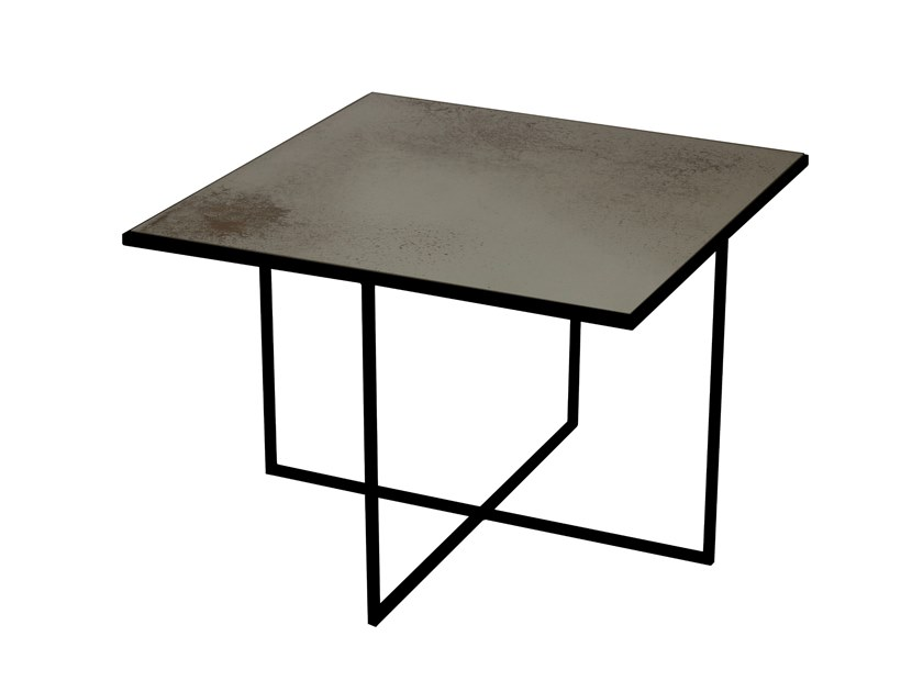 Square glass coffee table BRONZE SURFACE COFFEE TABLE by Notre Monde