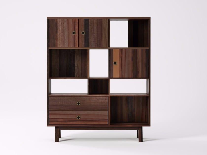 Libreria autoportante in legno di recupero BROOKLYN BF21-MH by KARPENTER