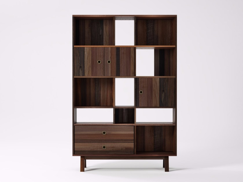 Freestanding reclaimed wood bookcase BROOKLYN BF22-MH by KARPENTER