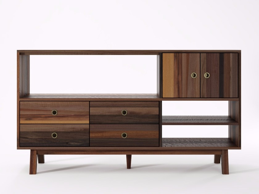 Wooden sideboard with drawers BROOKLYN BF26-MH by KARPENTER