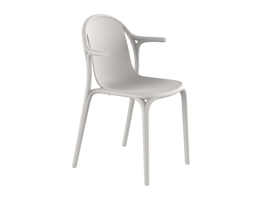Stackable garden chair with armrests BROOKLYN | Chair with armrests by VONDOM