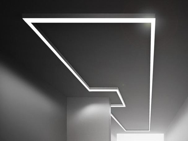 Extruded aluminium Linear lighting profile BROOKLYN OUT by PANZERI