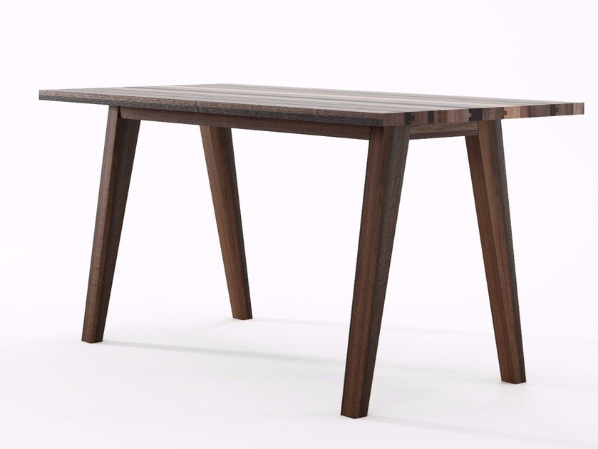 Rectangular reclaimed wood table BROOKLYN | Rectangular table by KARPENTER