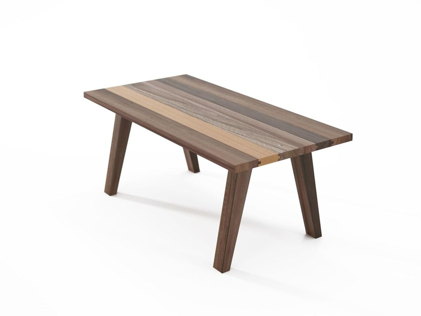 Rectangular reclaimed wood coffee table BROOKLYN | Wooden coffee table by KARPENTER